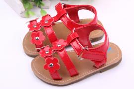 Rode sandalen