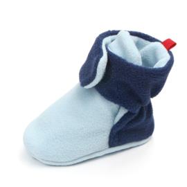Blauwe babysloffen