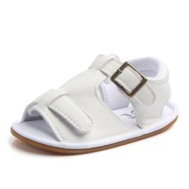 Witte sandalen met sier gesp