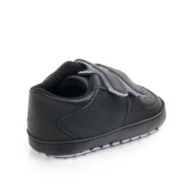 Zwarte Sneakers met klittenbandsluiting