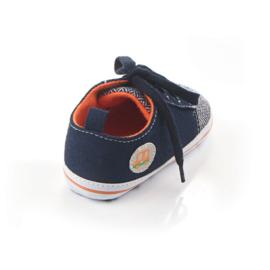 Grijs blauwe veterschoenen