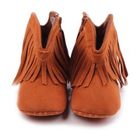 Bruine laarzen met franjes