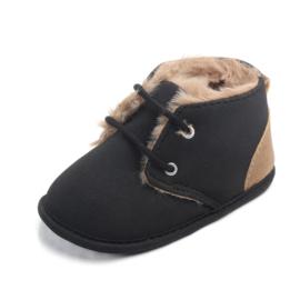 Zwarte gewatteerde schoenen