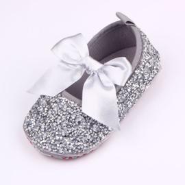Zilveren bling ballerina's