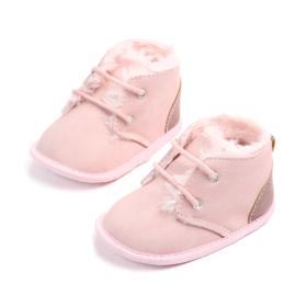 Roze gewatteerde schoentjes
