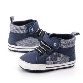 Blauwe enkelschoentjes