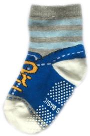 Antislip Sokken blauw met wit