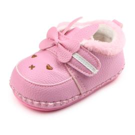 Roze schoentjes met strikje