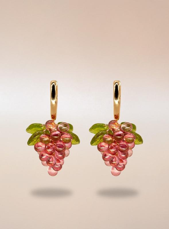Annele oorbellen Raspberry jelly