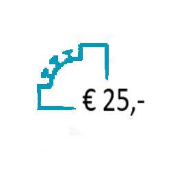 Aanvullen Saldo op uw Prepaid Account - € 25,-