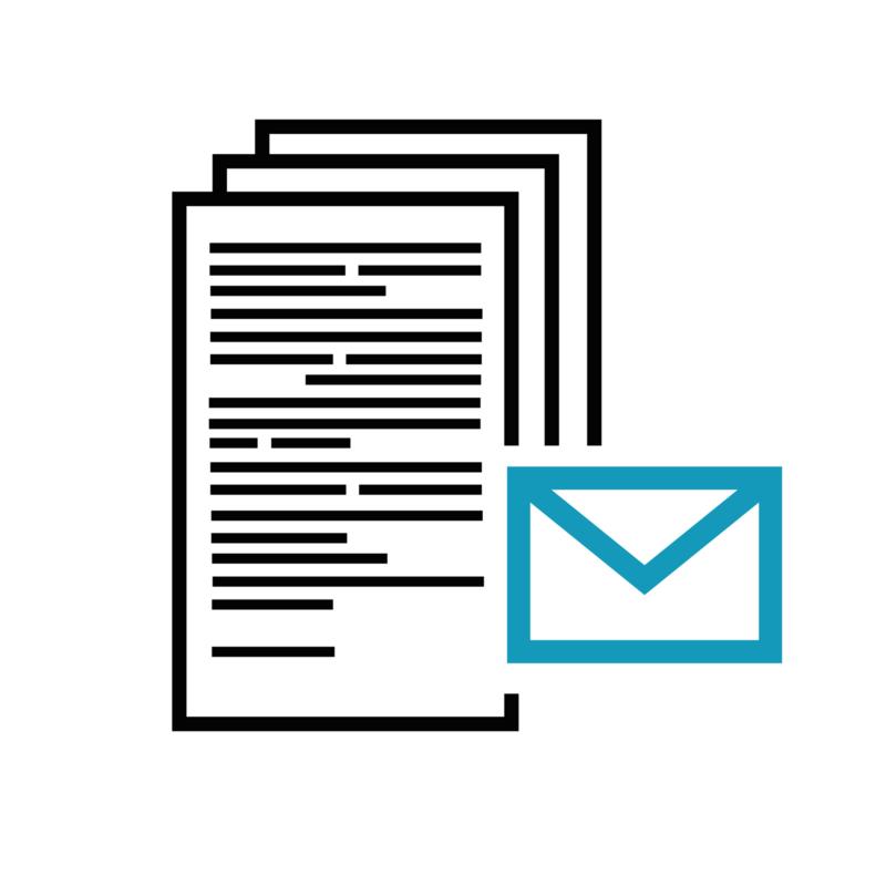 Postadres incl. doorzenden poststukken per verzamelenveloppe