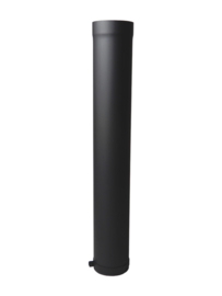 EW150 2MM paspijp 100cm met stelring - Zwart