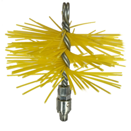 Nylon borstel Ø80mm met blokkeringssysteem
