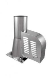 Rookgasventilator vierk. voet Ø150 incl. bediening