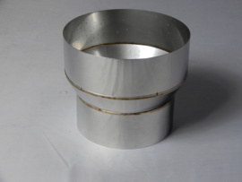 Verloopstuk conische rvs 79 - 119 mm