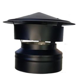 DW080/130 mm valwindkap Zwart