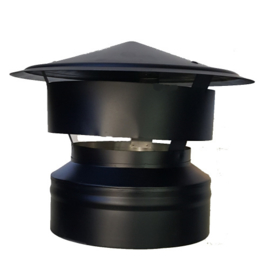 IsotubePlus Ø150/200 valwindtrekkap - zwart