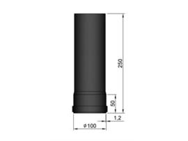 Pelletkachel pijp 25 cm ∅ 100mm