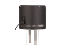 Rookgasventilator (Draftbooster ) Zwart