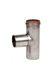 EW080 pelletkachel T-stuk 90 graden zonder dop