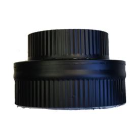 IsotubePlus Ø150/200 onderaansluitstuk naar 150 mm - zwart
