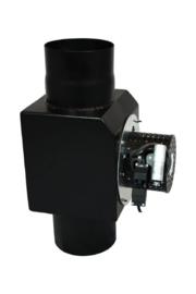 Rookgasventilator rond voet Ø150 (Zwart) 2mm