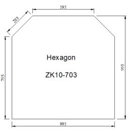 Kachelvloerplaat zeskant 1000 x 1000 x 6