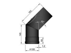 Pelletkachel bocht 45°  ∅100mm