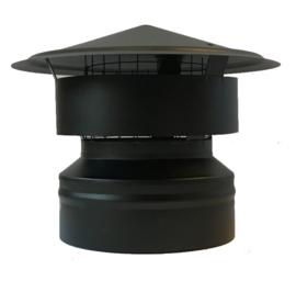 IsotubePlus Ø200/250mm valwindkap met gaas Zwart