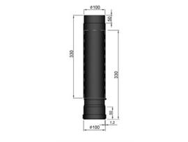 Pelletkachel paspijp / telescopische pijp Ø100 mm