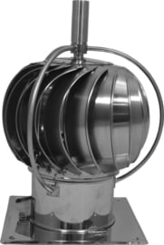 Turbowent draaikap met draailager buiten de kap - bodemplaat Ø150 mm