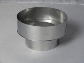 Verloopstuk RVS 80 - 100 mm