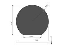 Kachelvloerplaat staal eclipsvormige 1000 x 917 mm Antraciet/grijs