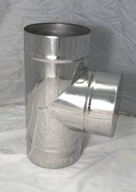 EW100 T-stuk met dop