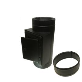 IsotubePlus Ø150/200mm inspectieluik element Zwart