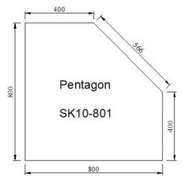 Kachelvloerplaat schuine kant 800 x 800 x 6