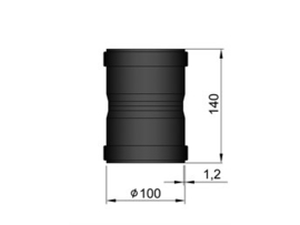 Pelletkachel  mof F/F  ∅ 100mm