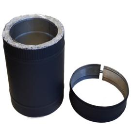 IsotubePlus Ø150/200mm pijp 50 cm -zwart