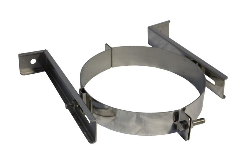 IsotubePlus Ø250 muurbeugel RVS