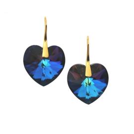 Heart Crystal Meridian Blue
