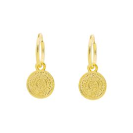"oorbellen ""lucky coin"""