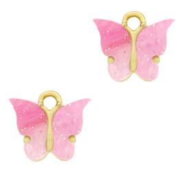 Oorbedels roze vlinder