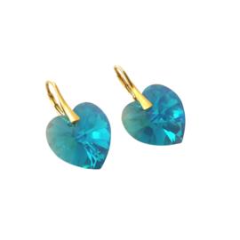 Heart Blue Zircon AB
