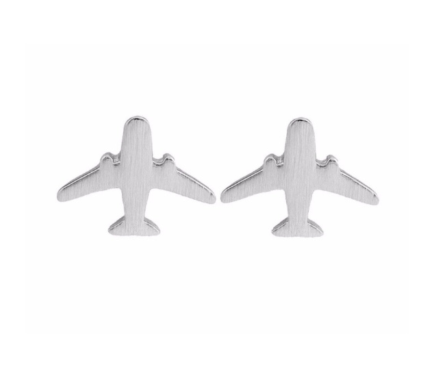 """Oorbellen """"vliegtuig"""" 925s"""