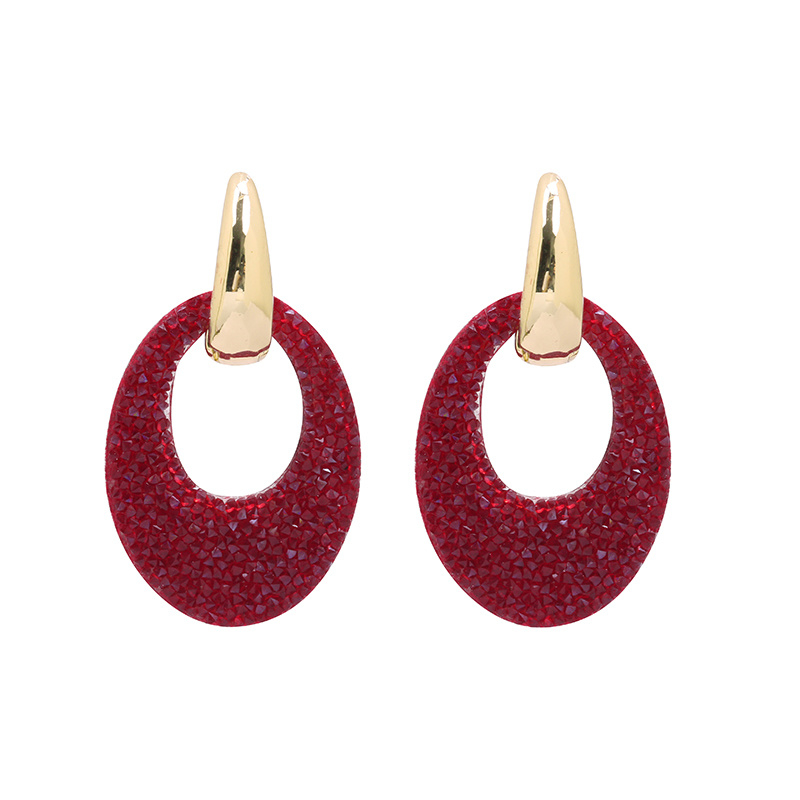"""oorbellen """"Little red sparkles"""""""