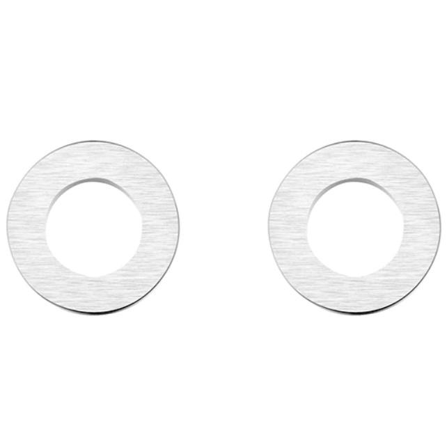 Oorbel zilverkleurig staal