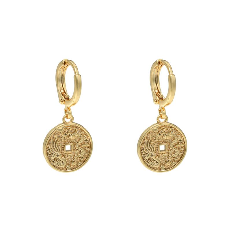 """oorbellen """"oriental coin"""""""