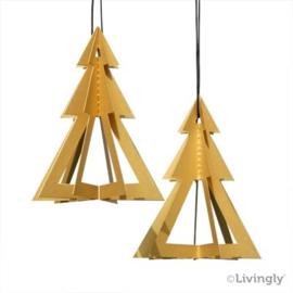 Kerstbomen goud 2 stuk