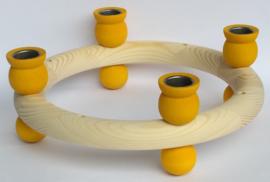 Kaarsenkrans groot geel