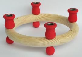 Kaarsenkrans klein rood